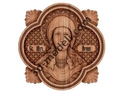 039 - Икона Святая Ирина - 3d модели для ЧПУ - stl, art, rlf