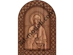 040 Икона Святая мученица Праскева Сербская - 3d модели для ЧПУ - stl, art, rlf