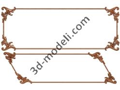040 - Резная панель - 3d модели для ЧПУ - stl, art, rlf