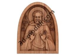 041 Икона преподобного Моисея Мурина - 3d модели для ЧПУ - stl, art, rlf