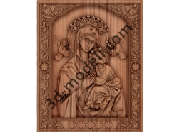 044 Икона «Страстная» икона Божией Матери - 3d модели для ЧПУ - stl, art, rlf