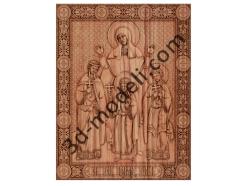 045 Икона Вера Надежда Любовь и матерь их София - 3d модели для ЧПУ - stl, art, rlf