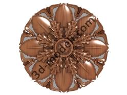 048 - Розетка декоративная - 3d модели для ЧПУ - stl, art, rlf