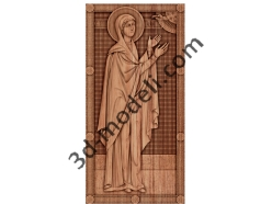 052 - Икона Святая Анна - 3d модели для ЧПУ - stl, art, rlf