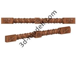 052 - Столб декоративный - 3d модели для ЧПУ - stl, art, rlf