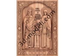 053 Икона Святых великомучеников Рафаила Николая и Ирины - 3d модели для ЧПУ - stl, art, rlf