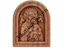 056 Икона «Страстная» икона Божией Матери - 3d модели для ЧПУ - stl, art, rlf