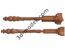 056 - Столб декоративный - 3d модели для ЧПУ - stl, art, rlf