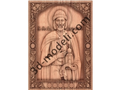 057 Икона Святого благоверного князя Олега Брянского - 3d модели для ЧПУ - stl, art, rlf