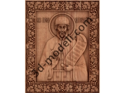 058 Икона Святого преподобного Виталия Александрийского - 3d модели для ЧПУ - stl, art, rlf