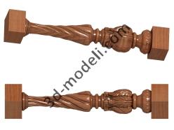 061 - Столб декоративный - 3d модели для ЧПУ - stl, art, rlf
