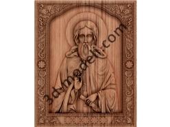 062 - Икона Святой Сергий - 3d модели для ЧПУ - stl, art, rlf