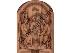 064 - Икона Святая Троица - 3d модели для ЧПУ - stl, art, rlf