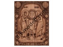 065 Икона Святые апостолы Пётр и Павел - 3d модели для ЧПУ - stl, art, rlf