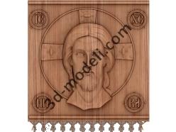 066 Икона полотно Иисус Христос - 3d модели для ЧПУ - stl, art, rlf