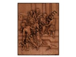 068 - Резное панно Иисус приговорен к смерти - 3d модели для ЧПУ - stl, art, rlf