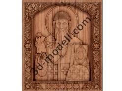 069 Икона Святитель Спиридон Тримифунтский - 3d модели для ЧПУ - stl, art, rlf