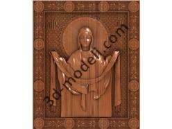 071 Икона Покрова Пресвятой Богородицы - 3d модели для ЧПУ - stl, art, rlf