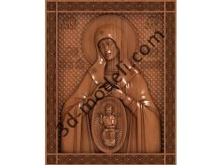 072 Икона Икона В родах помошница - 3d модели для ЧПУ - stl, art, rlf