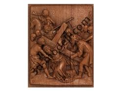072 - Резное панно Симон Киринеянин помогает Иисусу нести Его Кр - 3d модели для ЧПУ - stl, art, rlf
