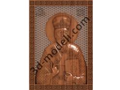 073 Икона Святой Василий - 3d модели для ЧПУ - stl, art, rlf