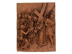 073 - Резное панно Вероника вытирает лицо Иисуса своим платком - 3d модели для ЧПУ - stl, art, rlf