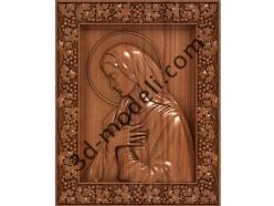 074 Икона Божией Матери - 3d модели для ЧПУ - stl, art, rlf