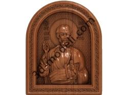 075 Икона Апостол Симон - 3d модели для ЧПУ - stl, art, rlf