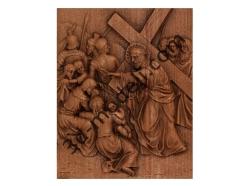 075 - Резное панно Иисус говорит с женщинами иерусалимскими - 3d модели для ЧПУ - stl, art, rlf