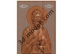 076 Икона Апостол Андрей Первозванный - 3d модели для ЧПУ - stl, art, rlf
