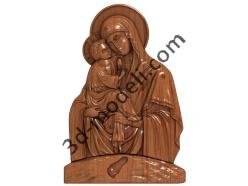 077 Икона Божьей Матери «ПОЧАЕВСКАЯ» - 3d модели для ЧПУ - stl, art, rlf