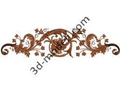 077 - Накладка декоративная - 3d модели для ЧПУ - stl, art, rlf