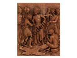 077 - Резное панно С Иисуса снимают Его одежды - 3d модели для ЧПУ - stl, art, rlf
