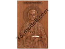 078 Икона Святой Пантелеймон - 3d модели для ЧПУ - stl, art, rlf