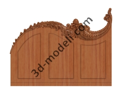 078 - Накладка декоративная - 3d модели для ЧПУ - stl, art, rlf