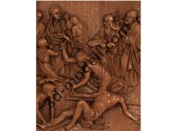 078 - Резное панно Иисуса пригвождают к Кресту - 3d модели для ЧПУ - stl, art, rlf