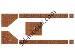 079 - Накладка декоративная - 3d модели для ЧПУ - stl, art, rlf
