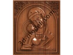 081 Икона Донская икона Божией Матери - 3d модели для ЧПУ - stl, art, rlf