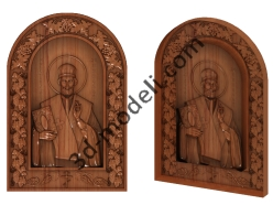 091 Икона Святой Николай - 3d модели для ЧПУ - stl, art, rlf