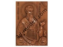 092 Икона Святой Игнатий - 3d модели для ЧПУ - stl, art, rlf