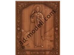 094 Икона Святой мученик Трифон - 3d модели для ЧПУ - stl, art, rlf
