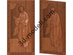 095 Икона Апостол Андрей первозванный - 3d модели для ЧПУ - stl, art, rlf