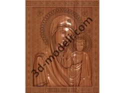 096 Икона Казанская богоматерь - 3d модели для ЧПУ - stl, art, rlf
