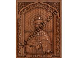 098 Икона Император Николай II - 3d модели для ЧПУ - stl, art, rlf