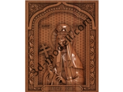 099 Икона Царица Александра - 3d модели для ЧПУ - stl, art, rlf
