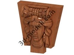 099 - Накладка декоративная - 3d модели для ЧПУ - stl, art, rlf