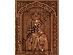100 Икона царевна Татьяна - 3d модели для ЧПУ - stl, art, rlf