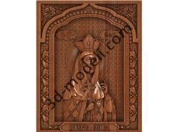 101 Икона царевна Ольга - 3d модели для ЧПУ - stl, art, rlf