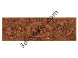 105 - Резное панно - 3d модели для ЧПУ - stl, art, rlf