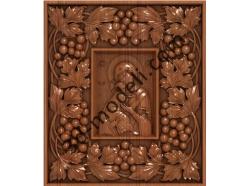 106 Икона Владимирская божья матерь в большой раме - 3d модели для ЧПУ - stl, art, rlf